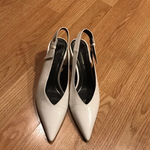 White heels from Zara
